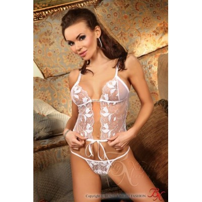 """COMPLETO INTIMO  IN PIZZO BIANCO """"CLAUDIA"""""""